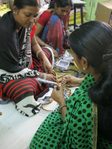 women's upcycling project at Mehera Shaw