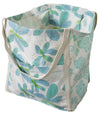 Market Tote in Sky Flower Print in Organic Cotton Canvas