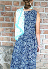 Kameez Dress in Indigo Hand Block Print