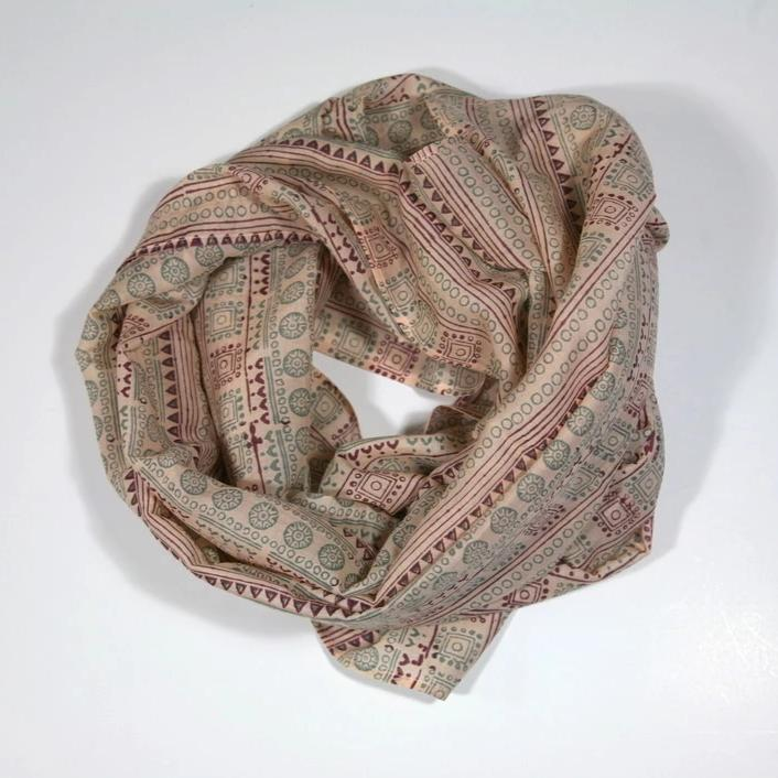 Scarf in Block Printed Mandana Sunset Print