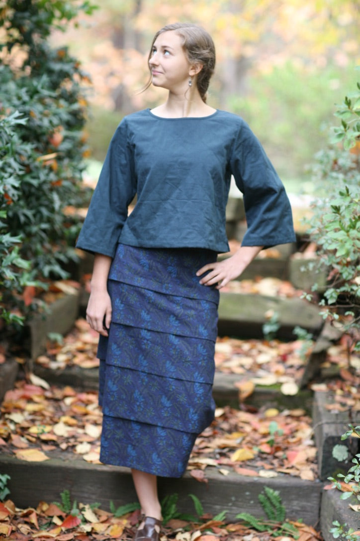 Midi Skirt in Natalie Print