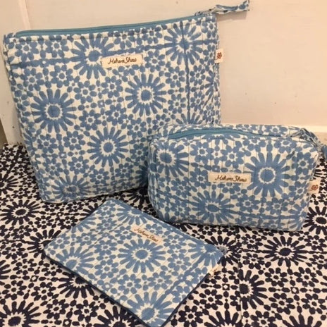 Travel Bag Set in Moroccan Sky Print