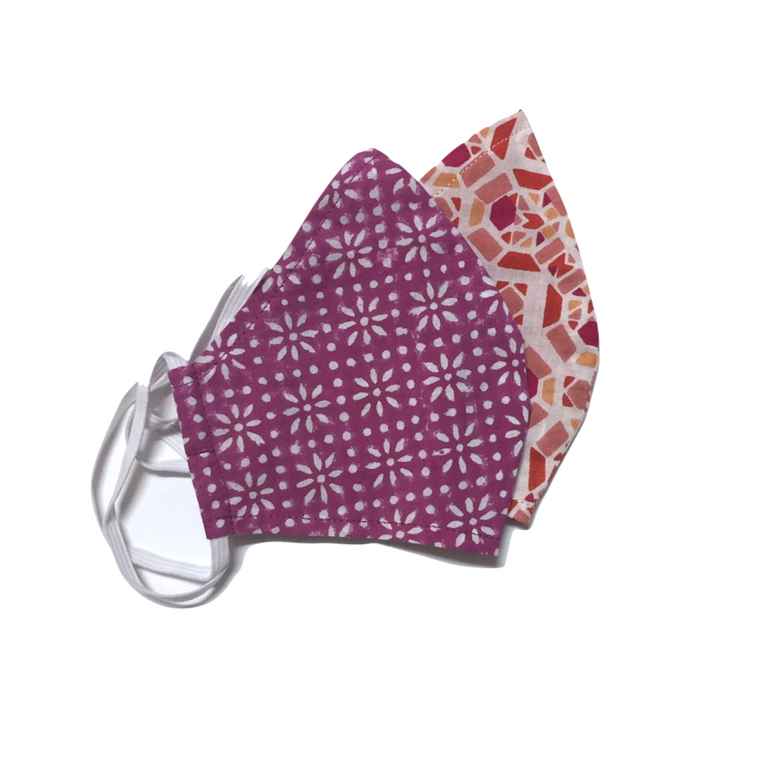 Washable Face Mask in Berry Prints