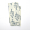 Napkin Set in Block Printed Navy Paisley Print