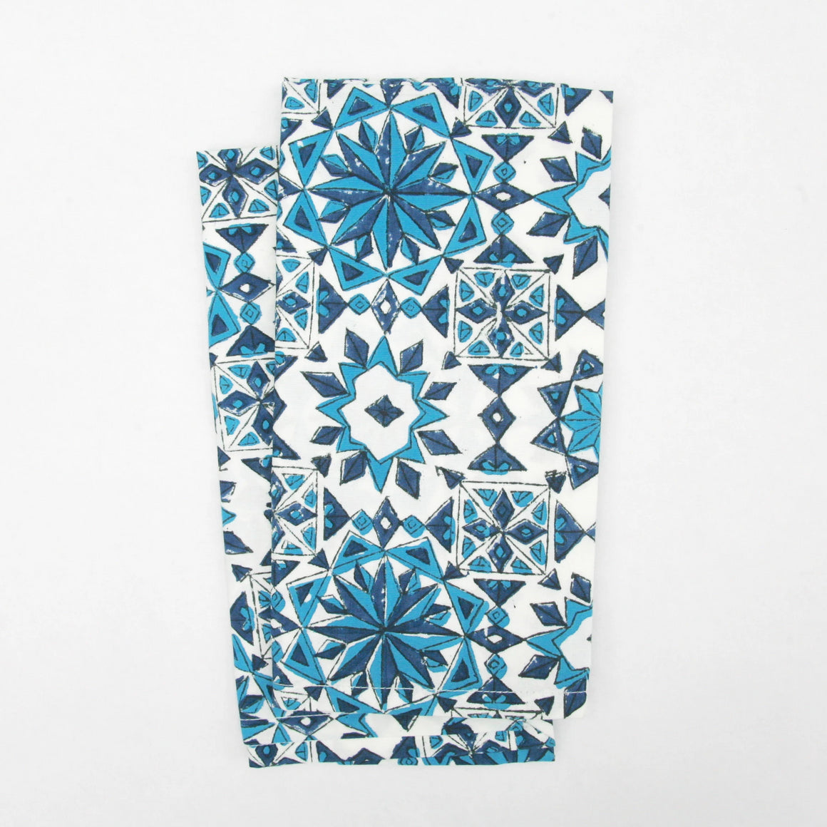 Napkin Set in Block Printed Azulejo Print