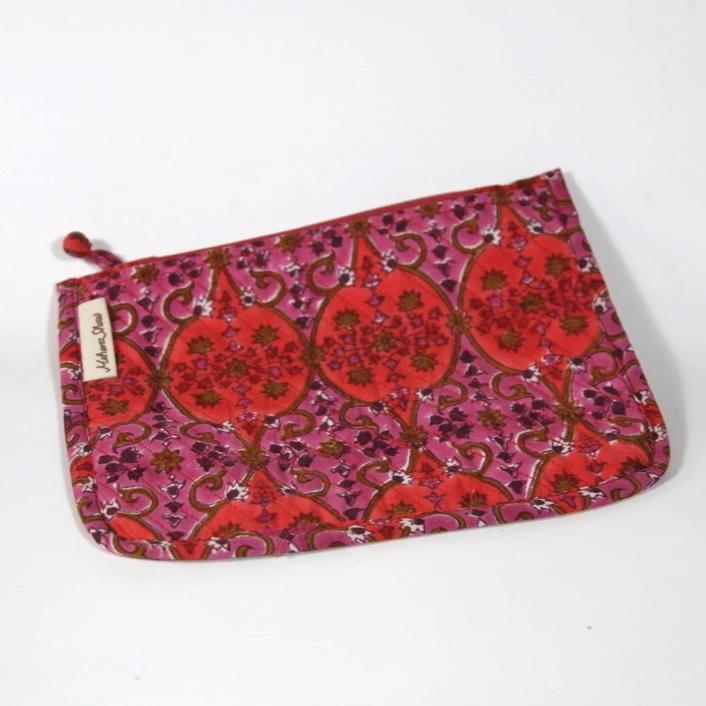 Chota Travel Bag in Arabesque Hand Block Print