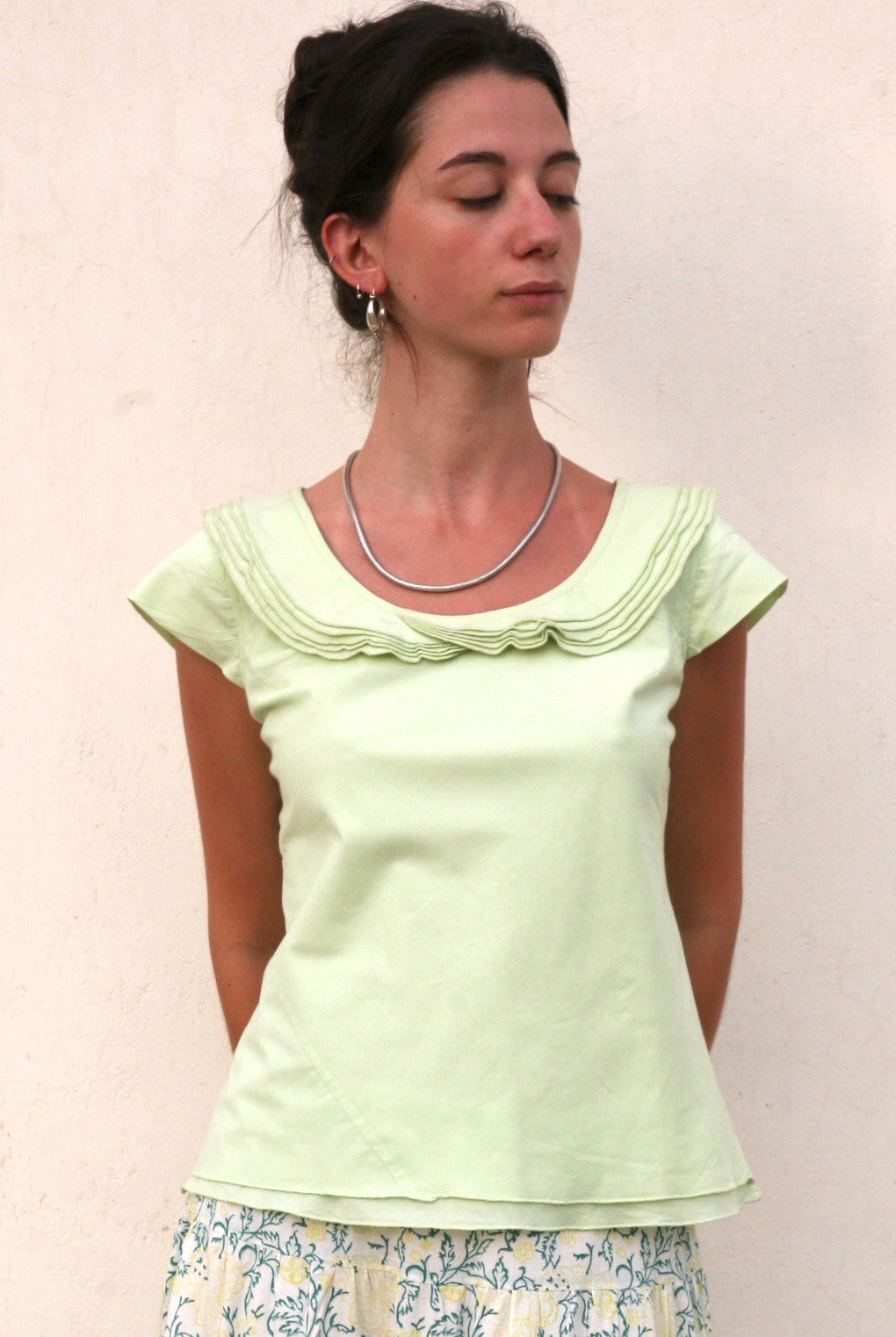 Citrus Ruffle Collar Blouse