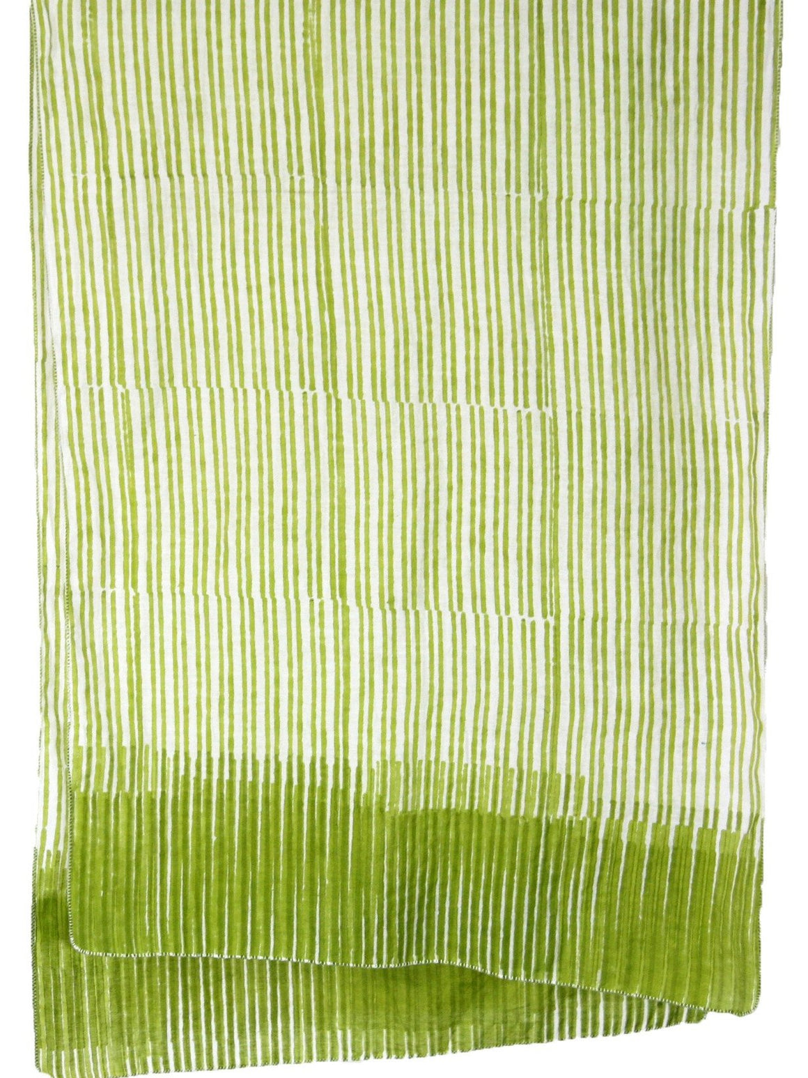 Scarf in meadow green stripes