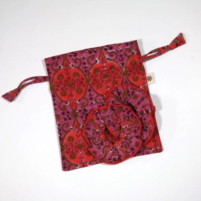 Scrunchies in Arabesque Hand Block Print