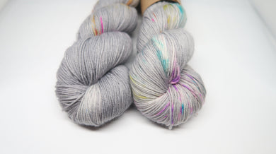 Cloudy with a chance of Rainbow Sock Yarn