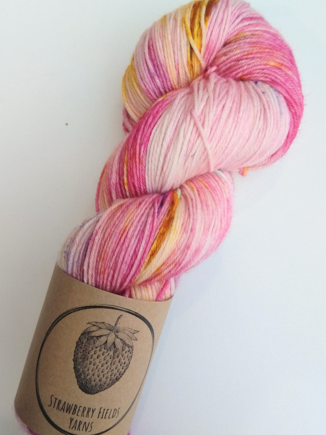 Pink Butterfly Sock Yarn
