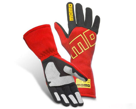 MOMO PRO RACER CLUB RED RACING GLOVE - RK MOTORSPORTSPRO