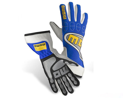 MOMO TOP LIGHT BLUE RACING GLOVES - RK MOTORSPORTSPRO