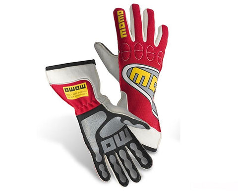 MOMO TOP LIGHT RED RACING GLOVES - RK MOTORSPORTSPRO