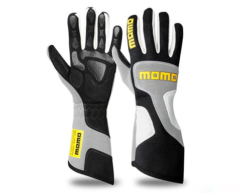 MOMO XTREME PRO GREY RACING GLOVES - RK MOTORSPORTSPRO