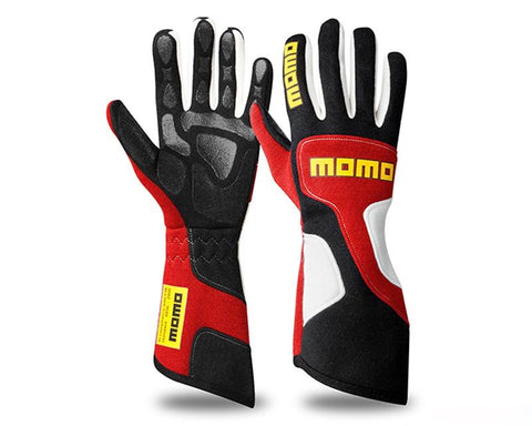 MOMO XTREME PRO RED RACING GLOVES - RK MOTORSPORTSPRO