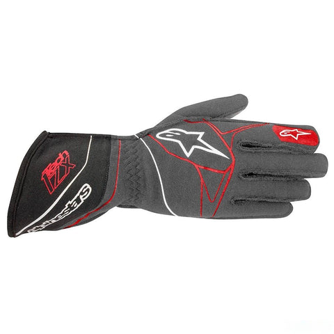 ALPINESTARS ANTHRACITE BLACK AND RED TECH 1-ZX GLOVES SFI 3.3 LEVEL 5/FIA 8856-2000 - RK MOTORSPORTSPRO