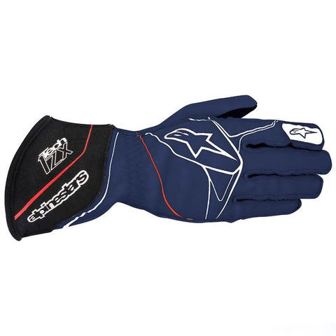 ALPINESTARS NAVY BLUE, WHITE AND RED TECH 1-ZX GLOVES SFI 3.3 LEVEL 5/FIA 8856-2000 - RK MOTORSPORTSPRO