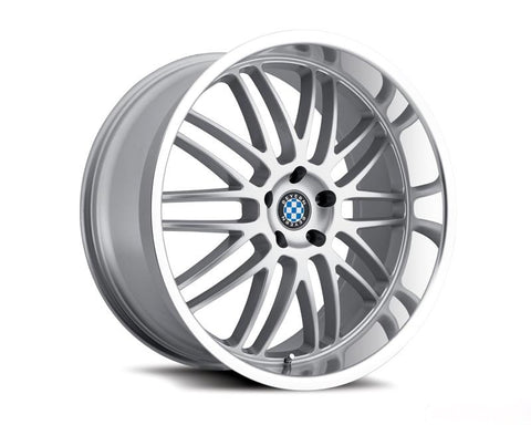 BEYERN MESH 17X8 5X120 15MM SILVER MACHINED 74 BORE