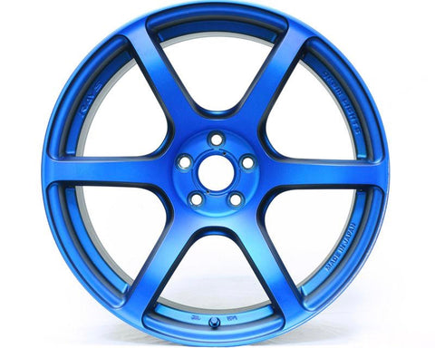 GRAMLIGHTS VELVET MARINE BLUE 57C6 SP SPEC WHEEL 18X7.5 5X114.3 40MM