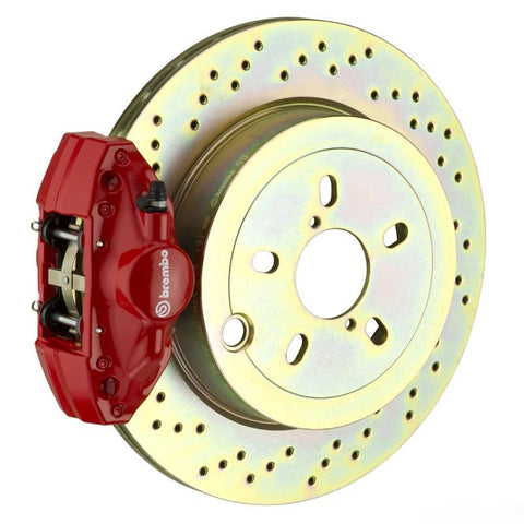 BREMBO GT 294X19 1-PIECE 2 PISTON RED DRILLED REAR BIG BRAKE KIT