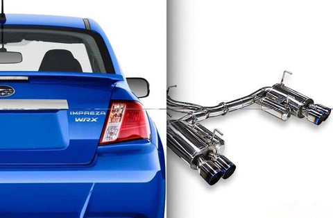 ARK STAINLESS DT-S CATBACK EXHAUST WITH POLISHED TIP SUBARU WRX 2.5L  H4 TURBO / STI 2.5L H4 TURBO 11-19 - RK MOTORSPORTSPRO