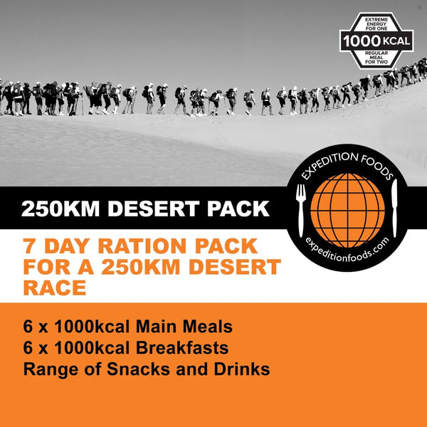 250km Desert Race Nutrition Pack (1000kcal)