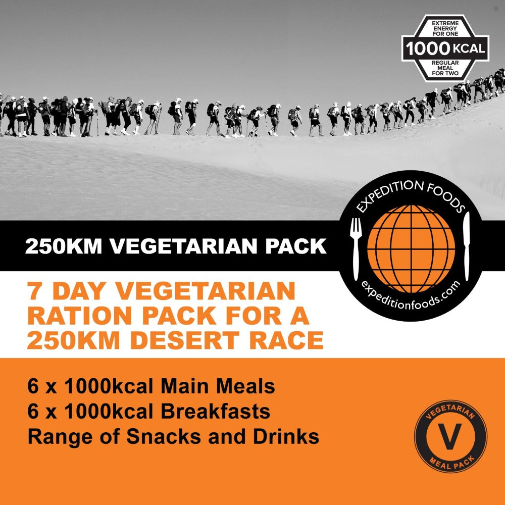 250km Desert Race Vegetarian Nutrition Pack (1000kcal)