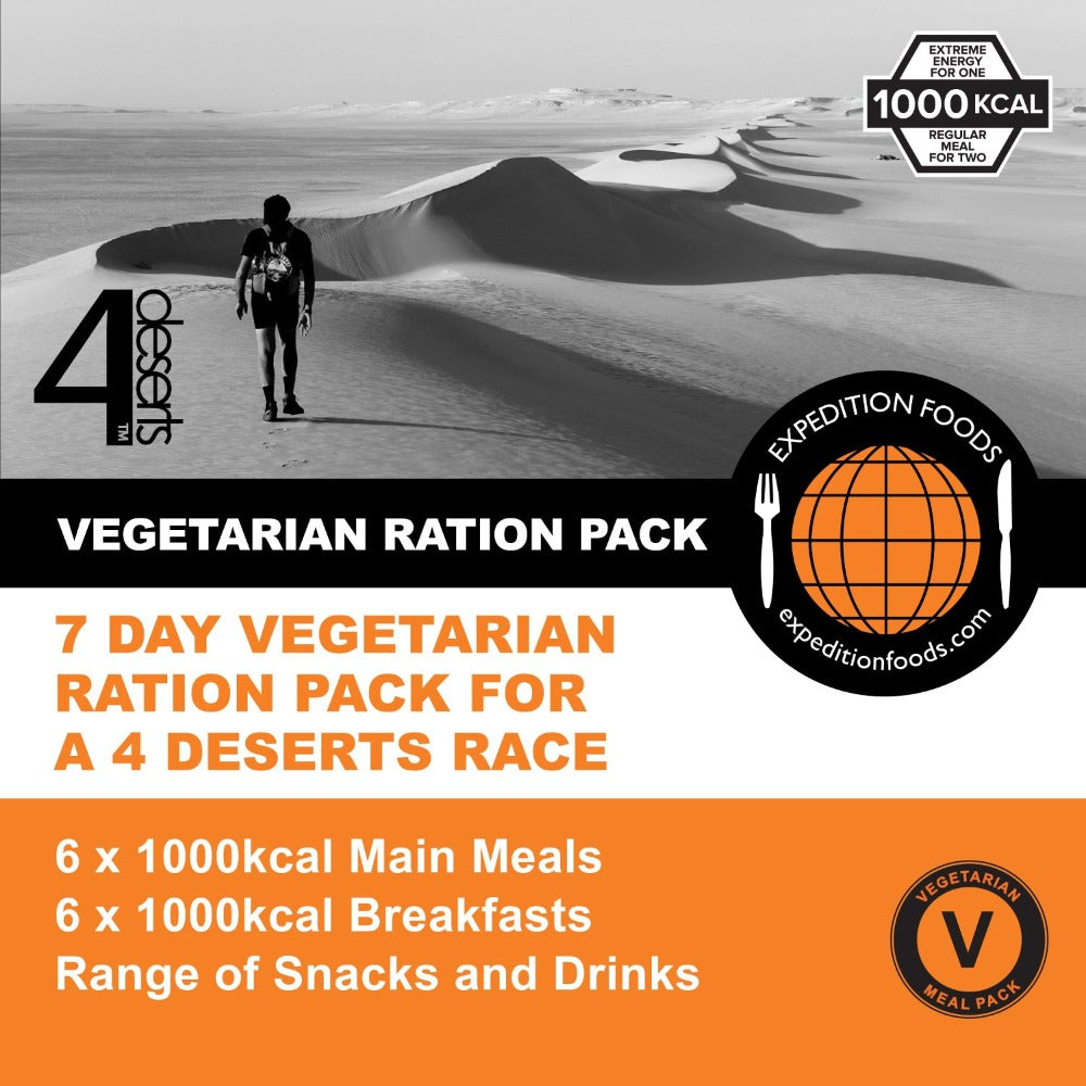 4 Deserts 250km Vegetarian Nutrition Pack (1000kcal)