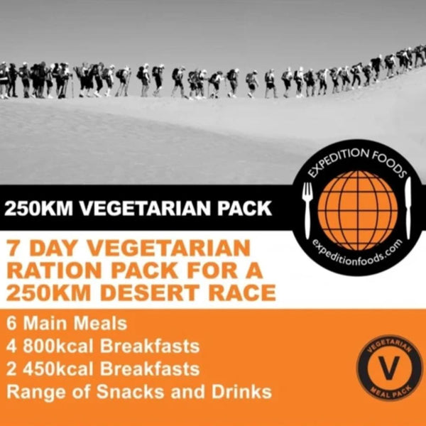 250km Desert Race Vegetarian Nutrition Pack