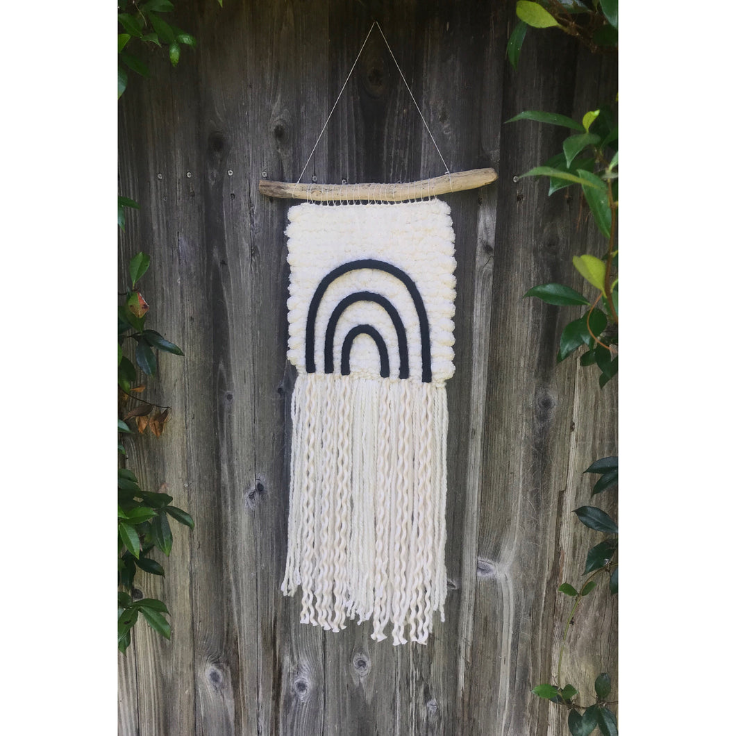 *SOLD* ⋒ Medium, Neutral Rainbow Wall Hanging ⋒