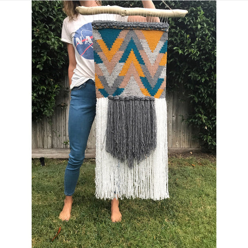 *SOLD* Chevron Wall Hanging