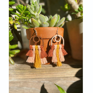 🌅Venice Beach Sunset Fiber Earrings-made to order🌅