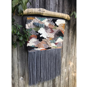 SOLD. Moonstone Beach Handwoven Wall Hanging