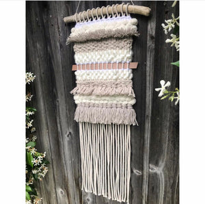 Neutral, Stripes, and Texture Wall Hanging