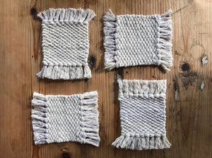 Handwoven Mug Rugs (set of 4)