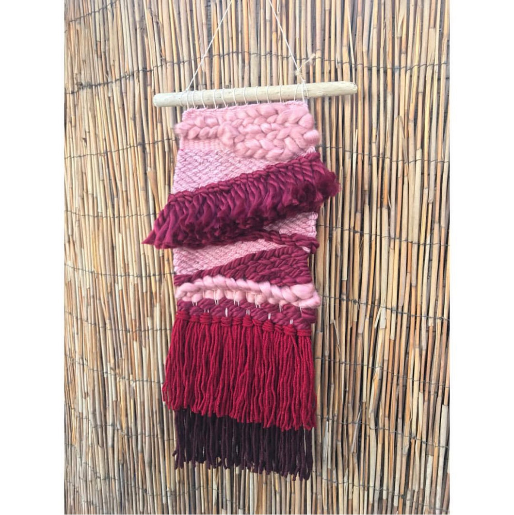SOLD. Pink Ombré Wall Hanging