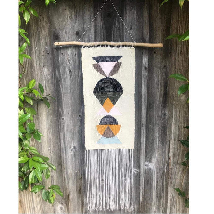 Medium Mid Mod Geometric Wall Hanging
