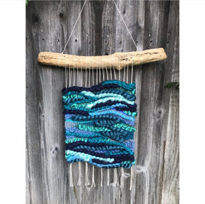 SOLD. Blue Wave Handwoven Wall Hanging🌊