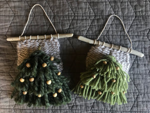 Mini Christmas Tree Wall Hangings 🎄