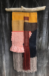 SOLD. Large Fall Color Block Wall Hanging