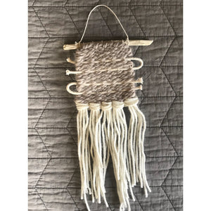 SOLD. Mini Neutral With Cotton Cord Accent