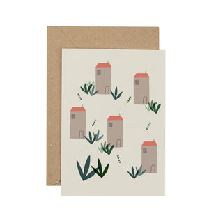 houses-greetings-card
