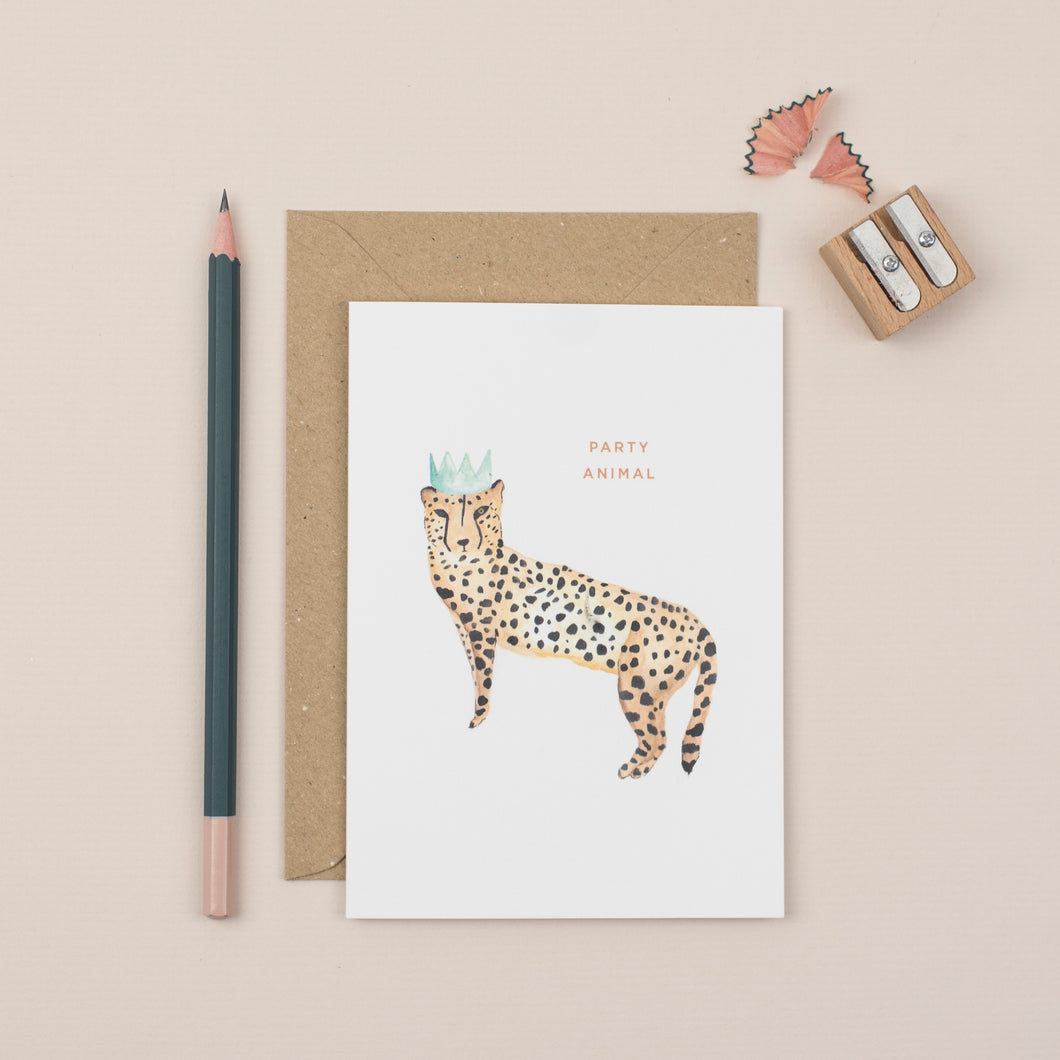 party-animal-cheetah-greetings-card