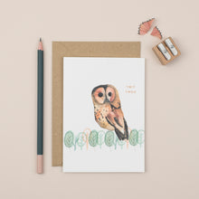 Load image into Gallery viewer, owl-twit-twoo-greetings-card