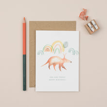 Load image into Gallery viewer, aardvark-third-birthday-card