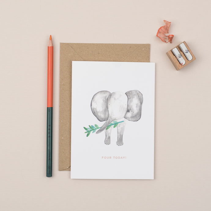 elephant-fourth-birthday-card