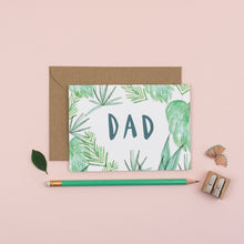 Load image into Gallery viewer, Botanical-dad-greetings-card