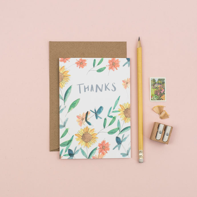 sunflower-thank-you-card