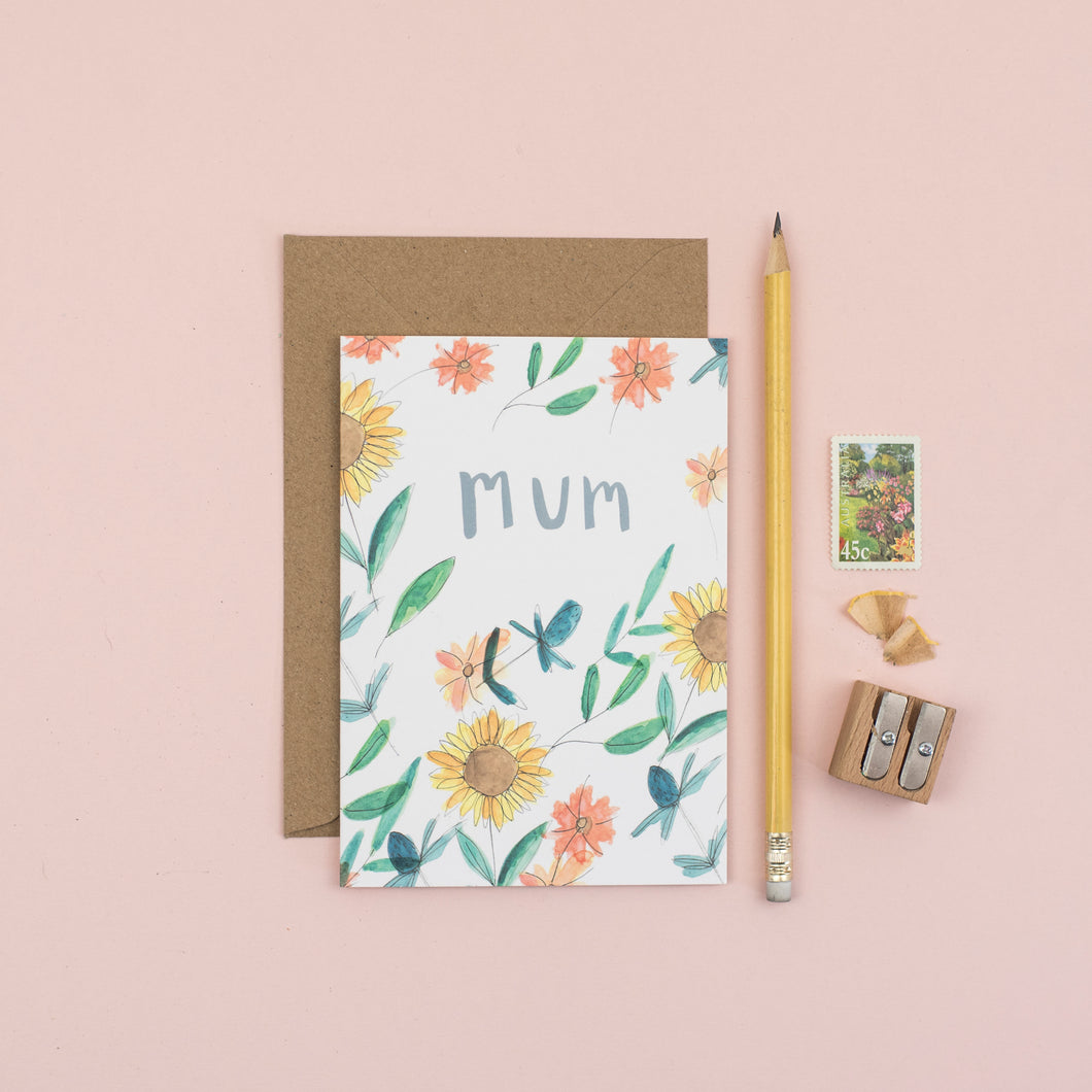 sunflower-mum-greetings-card